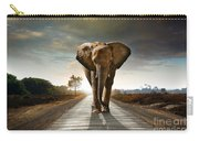 Walking Elephant Carry-all Pouch by Carlos Caetano