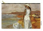 Walking On The Beach Carry-all Pouch