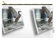 Walking On Water - Gently Cross Your Eyes And Focus On The Middle Image Carry-all Pouch