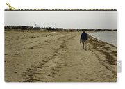Walking The Beach Carry-all Pouch