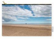 Walking The Dog On The Beach Carry-all Pouch