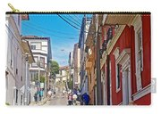 Walking Up Steep Streets In Hilly Valparaiso-chile Carry-all Pouch