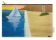 Walking With You On Beach Carry-all Pouch