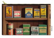 Wall Spice Rack - Americana Kitchen Art Decor - Vintage Spice Cans Tins - Nostalgic Spice Rack Carry-all Pouch