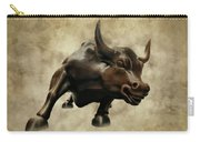 Wall Street Bull V Carry-all Pouch
