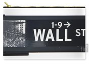 Wall Street Sign Close Up 1 Carry-all Pouch