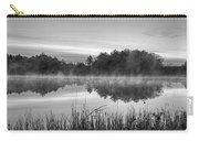 Wallis Sands Marsh Smoke On The Water Rye Nh Black And White Carry-all Pouch