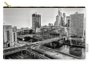 Walnut Street City View In Black And White Carry-all Pouch