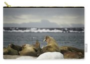 Walruses With Giant Tusks At Arctic Haul-out Carry-all Pouch