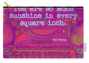 Walt Whitman Quote Typewriter Carry-all Pouch