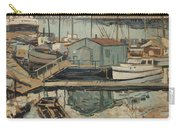 Walter  E  Schofield 1867-1944 Dock With Shed Carry-all Pouch