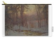 Walter Launt Palmer 1854-1932 Winter Stream At Sunset Carry-all Pouch