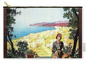 Warazze, Savona, Italy, Woman On Hotel Terrace Carry-all Pouch