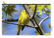 Warbler In Yellow Carry-all Pouch