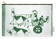 Warli Farmers In Bullock Cart Carry-all Pouch