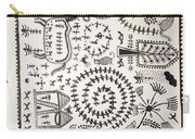 Warli Tribal Painting  Carry-all Pouch