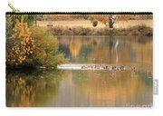 Warm Autumn River Carry-all Pouch by Carol Groenen