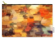 Warm Colors Under Glass - Abstract Art Carry-all Pouch