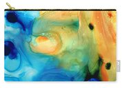 Warm Tides - Abstract Art By Sharon Cummings Carry-all Pouch