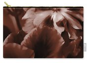 Warm Tone Monochrome Floral Art Carry-all Pouch