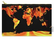 Warming World Map Carry-all Pouch