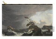 Warships In A Heavy Storm Carry-all Pouch