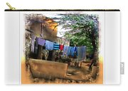 Washing Line And Cows Indian Village Rajasthani 1b Carry-all Pouch