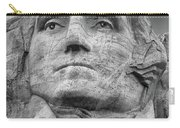 Washington And Setting Moon Bw Carry-all Pouch