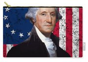 Washington And The American Flag Carry-all Pouch by War Is Hell Store