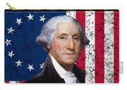 Washington And The American Flag Carry-all Pouch