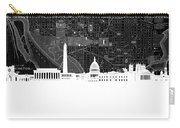 Washington Dc Skyline Map 5 Carry-all Pouch