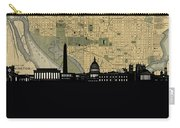 Washington Dc Skyline Map Carry-all Pouch