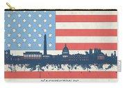 Washington Dc Skyline Usa Flag 3 Carry-all Pouch