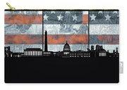 Washington Dc Skyline Usa Flag Carry-all Pouch