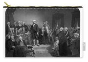 Washington Delivering His Inaugural Address Carry-all Pouch by War Is Hell Store