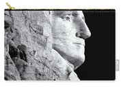 Washington Granite In Black And White Carry-all Pouch