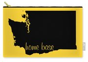 Washington Is Home Base Black Carry-all Pouch
