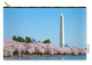 Washington Monument And Cherry Blossoms Carry-all Pouch