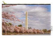 Washington Monument With Cherry Blossom Carry-all Pouch