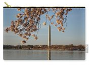 Washington Monument With Cherry Blossoms Carry-all Pouch by Megan Cohen