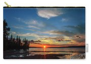 A Delightful Summer Sunset On Lake Waskesiu In Canada Carry-all Pouch
