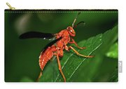 Wasp On A Leaf 001 Carry-all Pouch