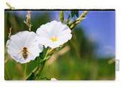 Wasp On A White Flower Carry-all Pouch