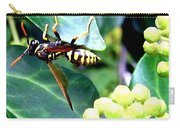 Wasp On The Ivy Carry-all Pouch