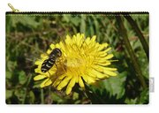 Wasp Visiting Dandelion Carry-all Pouch