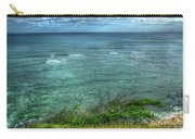 Watching From Afar Kuilei Cliffs Beach Park Surfing Hawaii Collection Art Carry-all Pouch