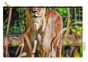 Watchful Lioness Carry-all Pouch