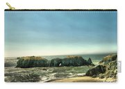 Watching The Rocks And Waves Carry-all Pouch