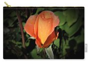 Water Beads On Orange Rose Carry-all Pouch