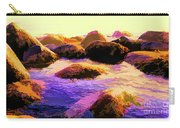 Water Color Like Rocks In Ocean At Sunset Carry-all Pouch
